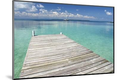 Pier over Clear Waters, Southwater Cay, Stann Creek, Belize-Cindy Miller Hopkins-Mounted Photographic Print