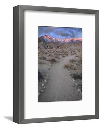 Sunrise on Lone Pine Peak and Mt Whitney, California, USA-Jaynes Gallery-Framed Photographic Print