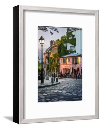 Evening Sunlight on La Maison Rose in Montmartre, Paris, France-Brian Jannsen-Framed Photographic Print