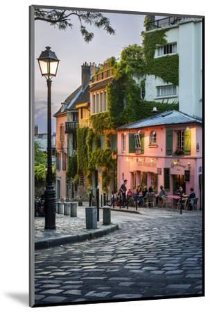 Evening Sunlight on La Maison Rose in Montmartre, Paris, France-Brian Jannsen-Mounted Photographic Print