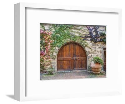 Italy, Tuscany, Chianti Region. This Is the Castello D'Albola Estate-Julie Eggers-Framed Photographic Print