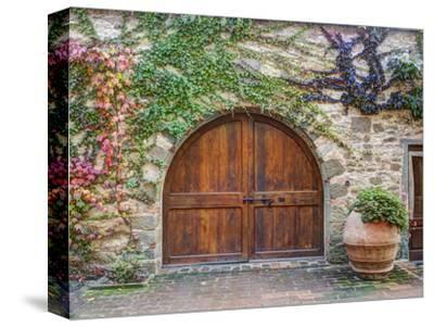 Italy, Tuscany, Chianti Region. This Is the Castello D'Albola Estate-Julie Eggers-Stretched Canvas Print