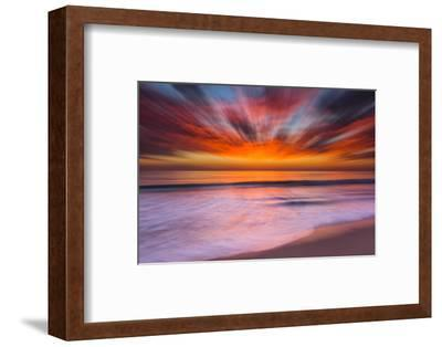 Sunset Abstract from Tamarack Beach in Carlsbad, Ca-Andrew Shoemaker-Framed Photographic Print