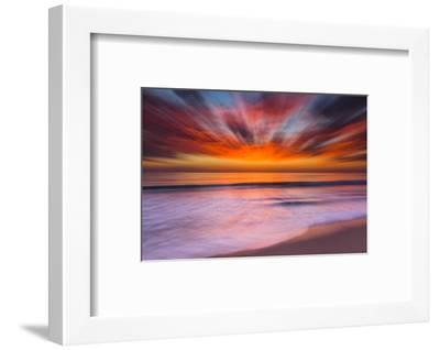 Sunset Abstract from Tamarack Beach in Carlsbad, Ca-Andrew Shoemaker-Framed Premium Photographic Print