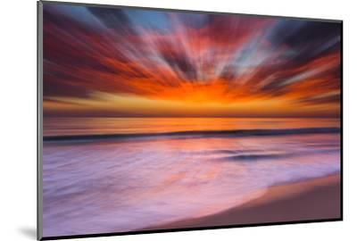 Sunset Abstract from Tamarack Beach in Carlsbad, Ca-Andrew Shoemaker-Mounted Premium Photographic Print