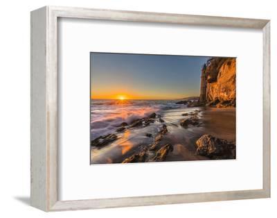 Sunset at Victoria Beach in Laguna Beach, Ca-Andrew Shoemaker-Framed Photographic Print