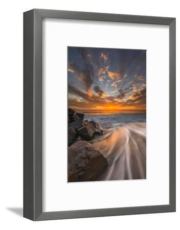 Sunset from Tamarach Beach in Carlsbad, Ca-Andrew Shoemaker-Framed Photographic Print