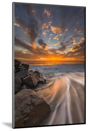 Sunset from Tamarach Beach in Carlsbad, Ca-Andrew Shoemaker-Mounted Photographic Print