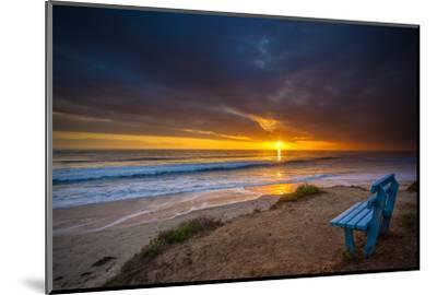 Sunset over the Pacific Ocean in Carlsbad, Ca-Andrew Shoemaker-Mounted Photographic Print