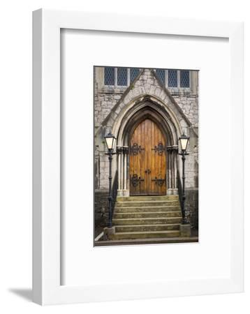 Wooden Doors at Entrance to Trinity Presbyterian Church, Cork, Ireland-Brian Jannsen-Framed Photographic Print