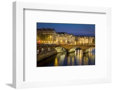 Pont Neuf and the Buildings Along River Seine, Paris France-Brian Jannsen-Framed Photographic Print