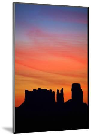 Navajo Nation, Monument Valley, Sunrise over Mitten Rock Formations-David Wall-Mounted Photographic Print