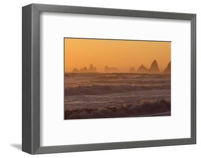 Wa, Olympic National Park, Sea Stacks at Sunset, Rialto Beach-Jamie And Judy Wild-Framed Photographic Print