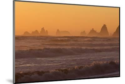 Wa, Olympic National Park, Sea Stacks at Sunset, Rialto Beach-Jamie And Judy Wild-Mounted Photographic Print