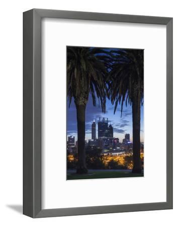 Australia, Perth, City Skyline from Kings Park, Dawn-Walter Bibikow-Framed Photographic Print