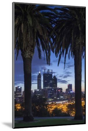 Australia, Perth, City Skyline from Kings Park, Dawn-Walter Bibikow-Mounted Photographic Print
