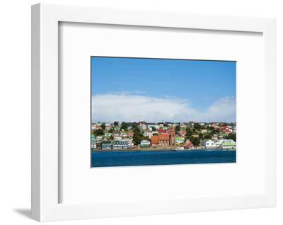 Falkland Islands. Stanley. View from the Water-Inger Hogstrom-Framed Photographic Print