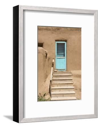 New Mexico. Taos Pueblo, Architecture Style from Pre Hispanic Americas-Luc Novovitch-Framed Photographic Print