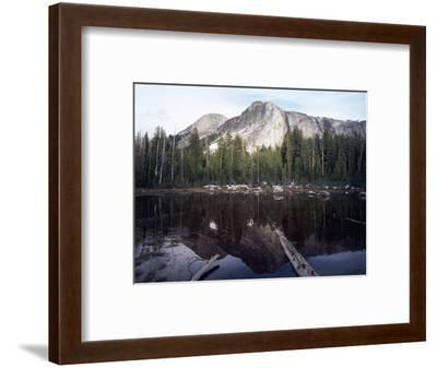 California, Sierra Nevada, Yosemite National Park, Mts Reflecting in a Tarn-Christopher Talbot Frank-Framed Photographic Print