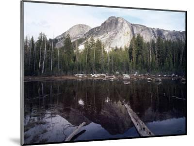 California, Sierra Nevada, Yosemite National Park, Mts Reflecting in a Tarn-Christopher Talbot Frank-Mounted Photographic Print