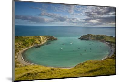 Evening View over Lulworth Cove, Jurassic Coast, Dorset, England-Brian Jannsen-Mounted Photographic Print