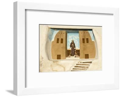 New Mexico. Painting in the Mission San Jose De La Laguna-Luc Novovitch-Framed Photographic Print