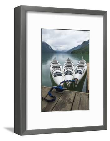 Chilkoot Lake, Kayaks at the Dock Haines, Alaska-Michael Qualls-Framed Photographic Print