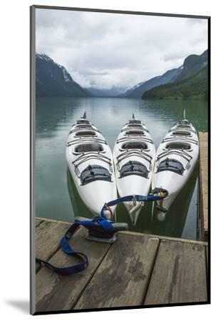 Chilkoot Lake, Kayaks at the Dock Haines, Alaska-Michael Qualls-Mounted Photographic Print