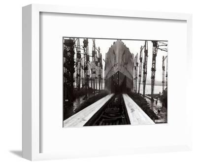 The Launch of the Ship the Queen Mary--Framed Photographic Print