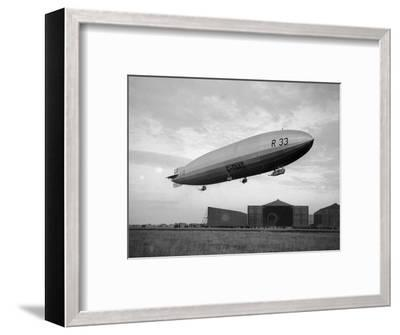 Armstrong Whitworth R33 Airship Outside the Hangars at Pulham in Norfolk, April 1925--Framed Photographic Print