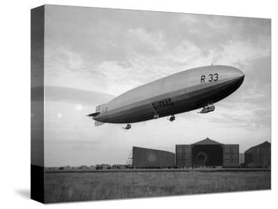 Armstrong Whitworth R33 Airship Outside the Hangars at Pulham in Norfolk, April 1925--Stretched Canvas Print