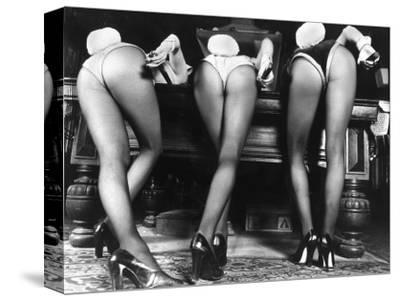 Playboy Bunnies Will Challenge Press Club Rabbits at the Press Club, February 1978--Stretched Canvas Print