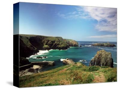 Mullion Cove in Cornwall--Stretched Canvas Print