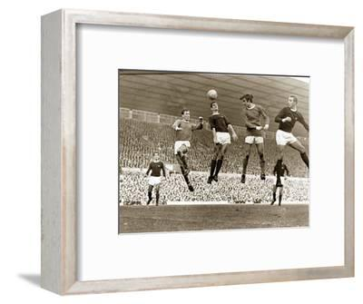 Manchester United vs. Arsenal, Football Match at Old Trafford, October 1967--Framed Photographic Print
