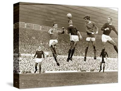 Manchester United vs. Arsenal, Football Match at Old Trafford, October 1967--Stretched Canvas Print