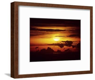 Singapore Sunset--Framed Photographic Print