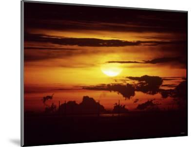 Singapore Sunset--Mounted Photographic Print
