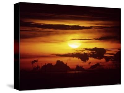 Singapore Sunset--Stretched Canvas Print