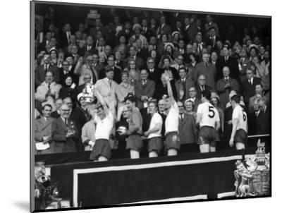 FA Cup Final at Wembley Stadium, Tottenham Hotspur vs Burnley--Mounted Photographic Print