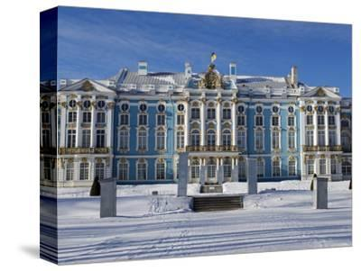 St Petersburg, Tsarskoye Selo, Catherine Palace Was Commissioned by the Empress Elizabeth, Russia-Nick Laing-Stretched Canvas Print