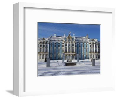 St Petersburg, Tsarskoye Selo, Catherine Palace Was Commissioned by the Empress Elizabeth, Russia-Nick Laing-Framed Photographic Print
