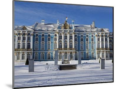 St Petersburg, Tsarskoye Selo, Catherine Palace Was Commissioned by the Empress Elizabeth, Russia-Nick Laing-Mounted Photographic Print