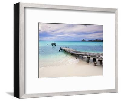 Venezuela, Archipelago Los Roques National Park, Pier on Madrisque Island-Jane Sweeney-Framed Premium Photographic Print