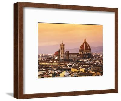 Italy, Florence, Tuscany, Western Europe, 'Duomo' Designed by Famed Italian Architect Brunelleschi,-Ken Scicluna-Framed Photographic Print