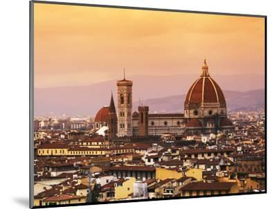 Italy, Florence, Tuscany, Western Europe, 'Duomo' Designed by Famed Italian Architect Brunelleschi,-Ken Scicluna-Mounted Photographic Print