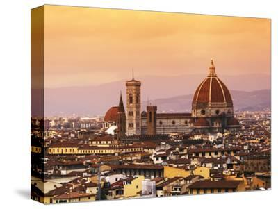 Italy, Florence, Tuscany, Western Europe, 'Duomo' Designed by Famed Italian Architect Brunelleschi,-Ken Scicluna-Stretched Canvas Print