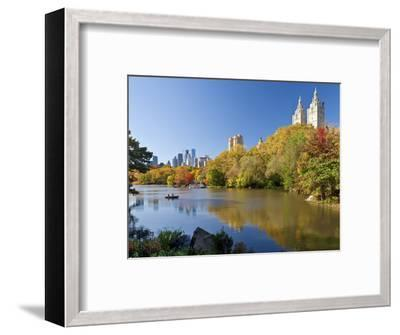 Central Park and Buildings Viewed Across Lake in Autumn, Manhattan, New York City-Gavin Hellier-Framed Photographic Print