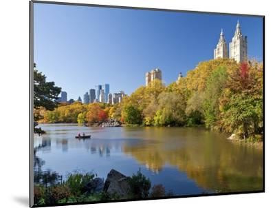 Central Park and Buildings Viewed Across Lake in Autumn, Manhattan, New York City-Gavin Hellier-Mounted Photographic Print
