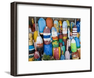 Lobster Buoys, Rockport Harbour, Rockport, Cape Ann, Massachusetts, USA-Walter Bibikow-Framed Photographic Print