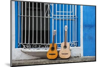 Santiago De Cuba Province, Historical Center, Calle Heredia, Guitars by Balcony-Jane Sweeney-Mounted Photographic Print